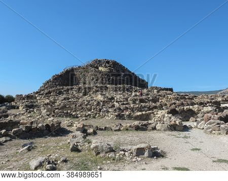 Barumini, Sardinia, Italy - Circa October 2019: The Nuraghe In Barumini, Ruins Of A Prehistoric Mega