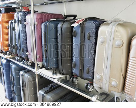 Prague, Czech Republic - Circa March 2019: Suitcase Department Store