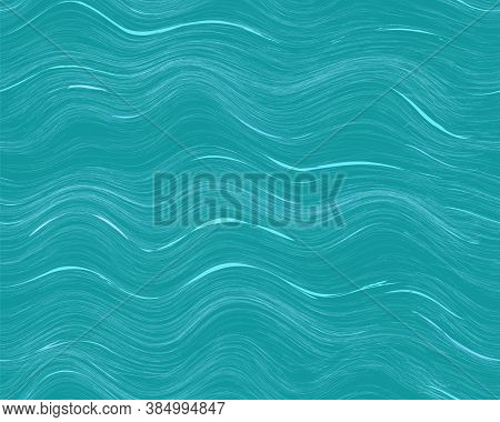 Abstract Wavy Ocean Seamless Pattern With Ripples And Splash For Web Design