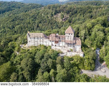 The Medieval Fort Hohenklingen Castle Over The Hill Of Stein Am Rhein, Built In 1225. It Is A Swiss