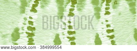 Green Grass Ikat Chevron. Tie-dye Background. Paint Watercolor Stains. Ink Grunge Paper. Ogee Ikat.