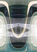 Illustration of abstract architecture in a background image poster