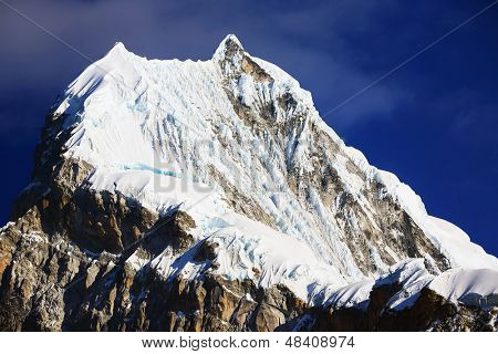 Chopicalqui Peak (6,354m) in Cordilera Blanca, Peru, South America poster