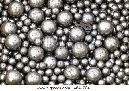 Stainless steel ball bearings in oil lubricant poster