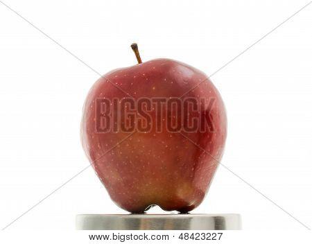 Closeup Red Apple Fruit.
