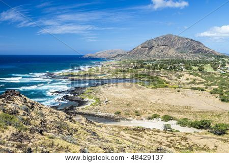 Halona Coastline And Koko Head Crater