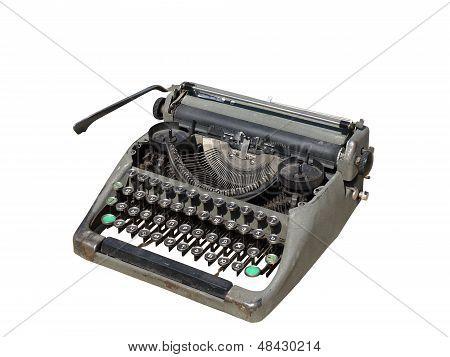 An old typewriter.