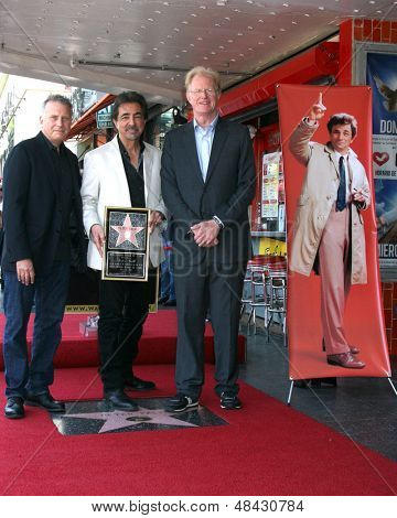 LOS ANGELES - JUL 25:  Paul Reiser, Joe Mantegna, Ed Begley, Jr at the Peter Falk Posthumous Walk of Fame Star ceremony at the Hollywood Walk of Fame on July 25, 2013 in Los Angeles, CA