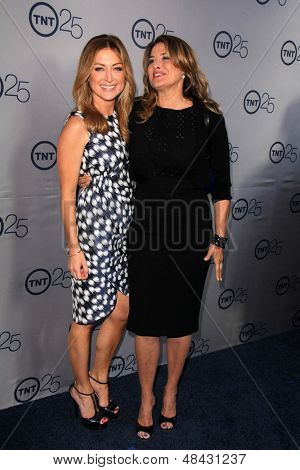 LOS ANGELES - JUL 24:  Sasha Alexander, Lorraine Bracco arrives at TNT's 25th Anniversary Party at the Beverly Hilton Hotel on July 24, 2013 in Beverly Hills, CA