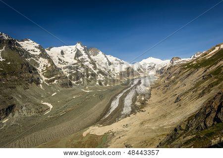 Johannisberg summit,Grossglockner (left side) and Pasterze glacier in the Hohe Tauern National Park, Austria. poster
