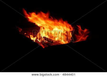 Log Barbecue Fire