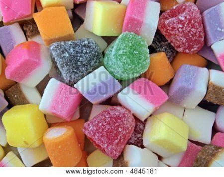 Closeup Of Mixed Sweets