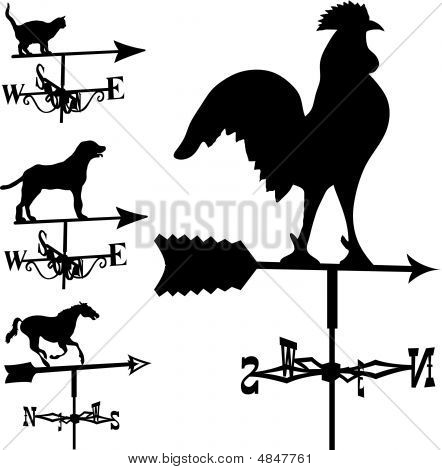 Weathervane In Vector Silhouette