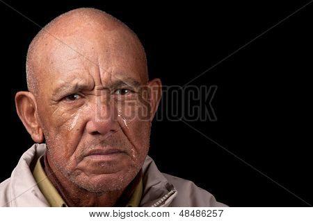 Alten Mann Weinen