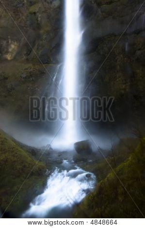 Waterfalls At Multnomah Falls, Oregon