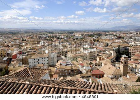 Bird View Of The Albaicin In Granada