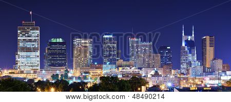 Skyline of downtown Nashville, Tennessee, USA. poster