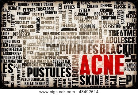Acne Problem and Treatment Concept as Art poster