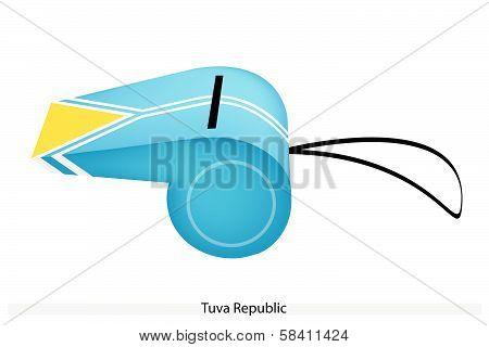 A Beautiful Whistle Of Tuva Republic Flag