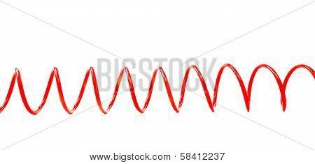 Red air hose horizontal