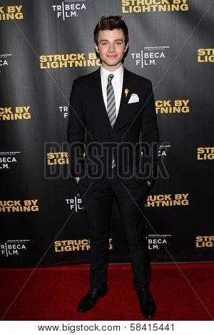 Chris Colfer at the