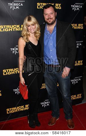 Beth Behrs and Michael Gladis at the