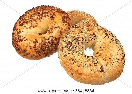 Three Mixed Bagels