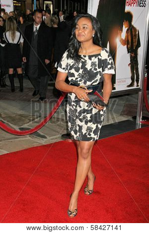WESTWOOD, CA - DECEMBER 07: Tatyana Ali at the premiere of