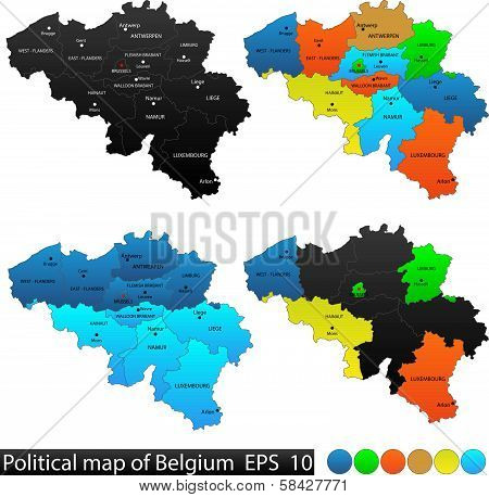 Political map of Belgium