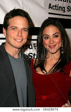 HOLLYWOOD - DECEMBER 07: Scott Wolf and Camille Guaty at Howard Fine's Ball of Fire December 07, 2006 in Boardners, Hollywood, CA.