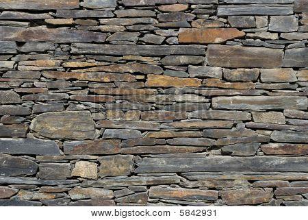Schiefer Wand