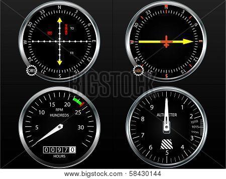 Airplane flight instruments