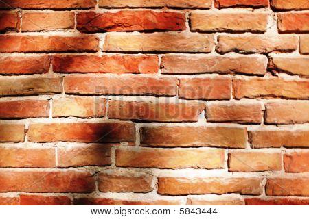 Red brick background