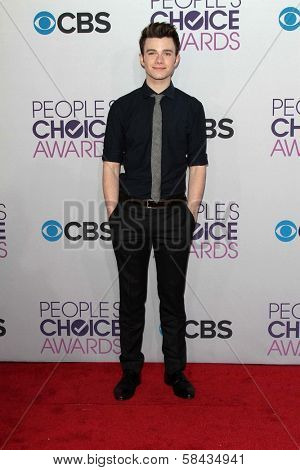 Chris Colfer at the 2013 People's Choice Awards Arrivals, Nokia Theater, Los Angeles, CA 01-09-13