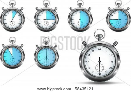 Stopwatches set