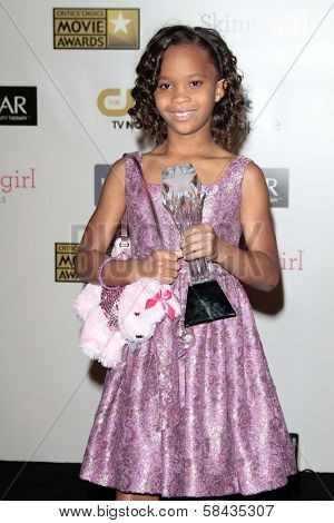 Quvenzhane Wallis at the 18th Annual Critics' Choice Movie Awards Press Room, Barker Hangar, Santa Monica, CA 01-10-13