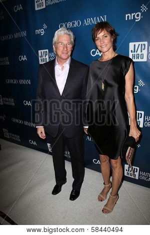 Richard Gere, Carey Lowell at the 2nd Annual Sean Penn & Friends