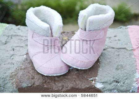 Baby Boots with the fur