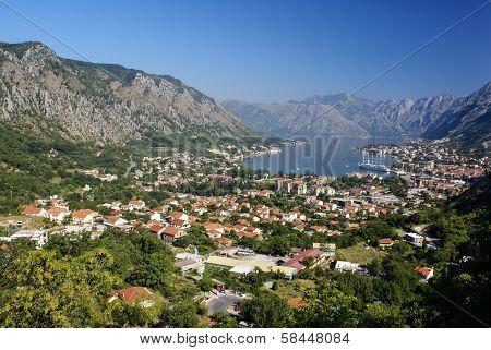 Kotor old town and Boka Kotorska bay Montenegro poster