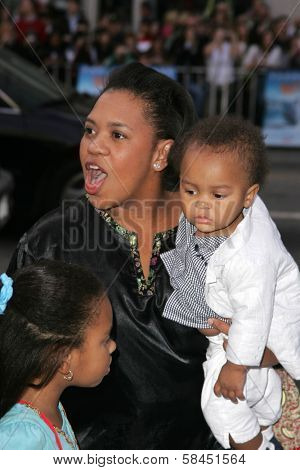 LOS ANGELES - NOVEMBER 12: Shondrella Avery and son at the world premiere of