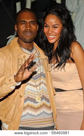 Kanye West and Alexis Rainey Holiday Window Lighting to benefit the Kanye West Foundation Loop Dreams Program, Stella McCartney Boutique, Los Angeles, CA, December 5, 2006.