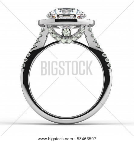 Diamond Ring On White