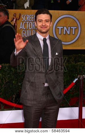 Justin Timberlake at the 19th Annual Screen Actors Guild Awards Arrivals, Shrine Auditorium, Los Angeles, CA 01-27-13
