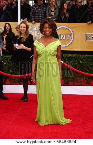 Alfre Woodard at the 19th Annual Screen Actors Guild Awards Arrivals, Shrine Auditorium, Los Angeles, CA 01-27-13