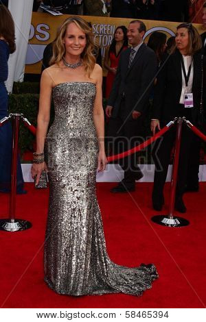 Helen Hunt at the 19th Annual Screen Actors Guild Awards Arrivals, Shrine Auditorium, Los Angeles, CA 01-27-13
