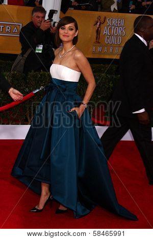 Marion Cotillard at the 19th Annual Screen Actors Guild Awards Arrivals, Shrine Auditorium, Los Angeles, CA 01-27-13