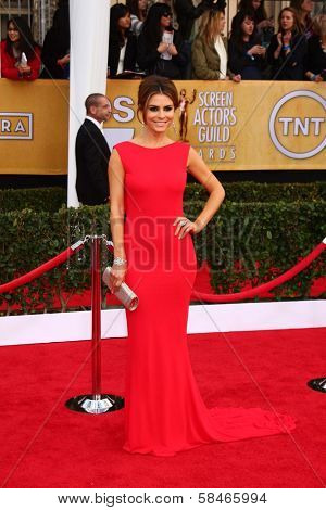 Maria Menounos at the 19th Annual Screen Actors Guild Awards Arrivals, Shrine Auditorium, Los Angeles, CA 01-27-13