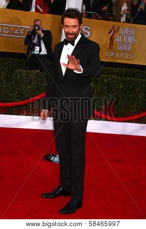 Hugh Jackman at the 19th Annual Screen Actors Guild Awards Arrivals, Shrine Auditorium, Los Angeles, CA 01-27-13
