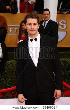 Matthew Morrison at the 19th Annual Screen Actors Guild Awards Arrivals, Shrine Auditorium, Los Angeles, CA 01-27-13