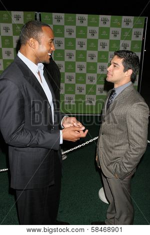 LOS ANGELES - NOVEMBER 08: Henry Simmons and Wilmer Valderrama at the 16th Annual Environmental Media Association Awards at Wilshire Ebell Theatre November 08, 2006 in Los Angeles